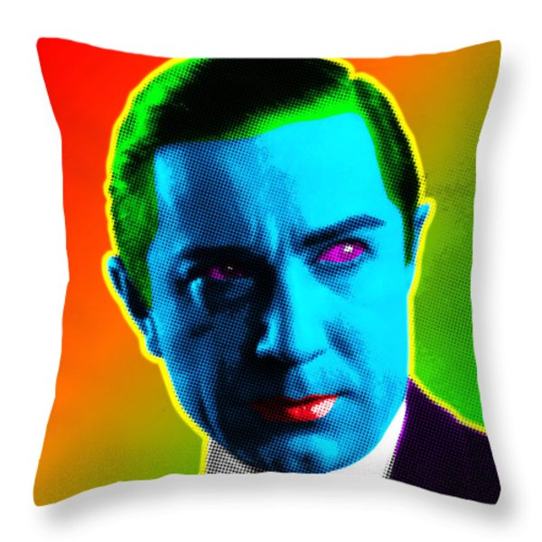 Dracula Throw Pillow by Gary Grayson