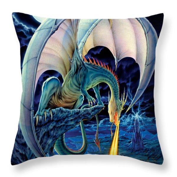 Dragon Causeway Throw Pillow by The Dragon Chronicles - Robin Ko