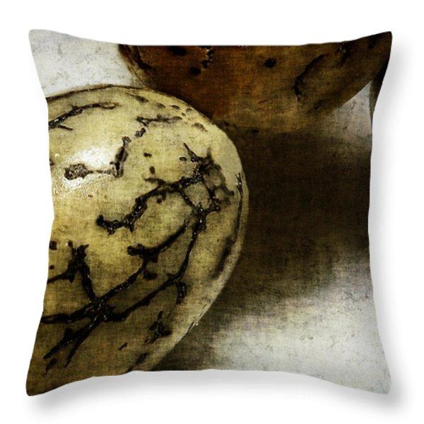 Dragon Eggs Throw Pillow by Judi Bagwell
