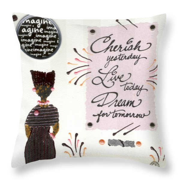 Dream For Tomorrow Throw Pillow by Angela L Walker