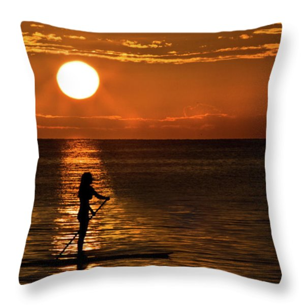 Dreaming Throw Pillow by Debra and Dave Vanderlaan