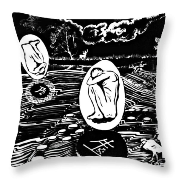 Dreaming In Black And White Throw Pillow by Ion vincent DAnu