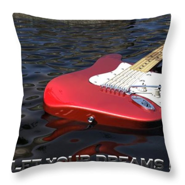 Dreams Floating Away Throw Pillow by James Barnes