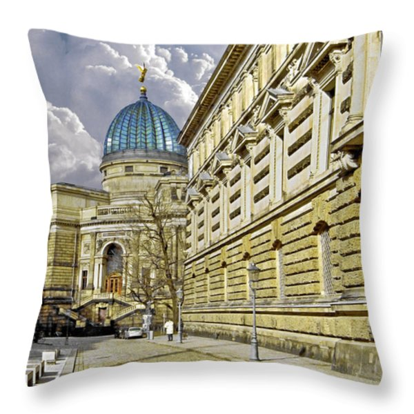 Dresden Academy Of Fine Arts Throw Pillow by Christine Till