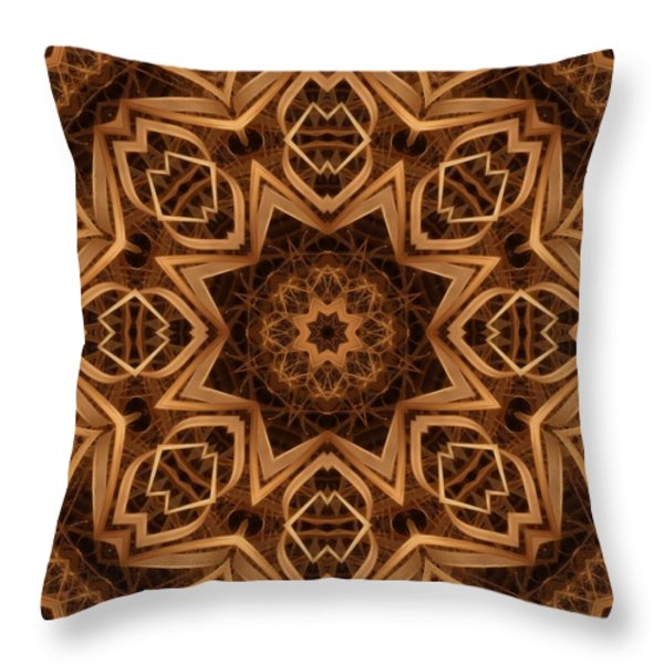 Dried Grass Mandala Throw Pillow by Lyle Hatch