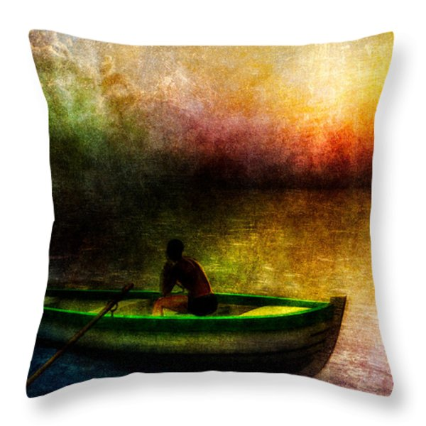 Drifting Into The Light Throw Pillow by Bob Orsillo