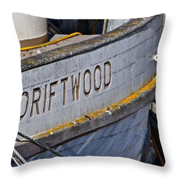Driftwood Throw Pillow by Bill Owen