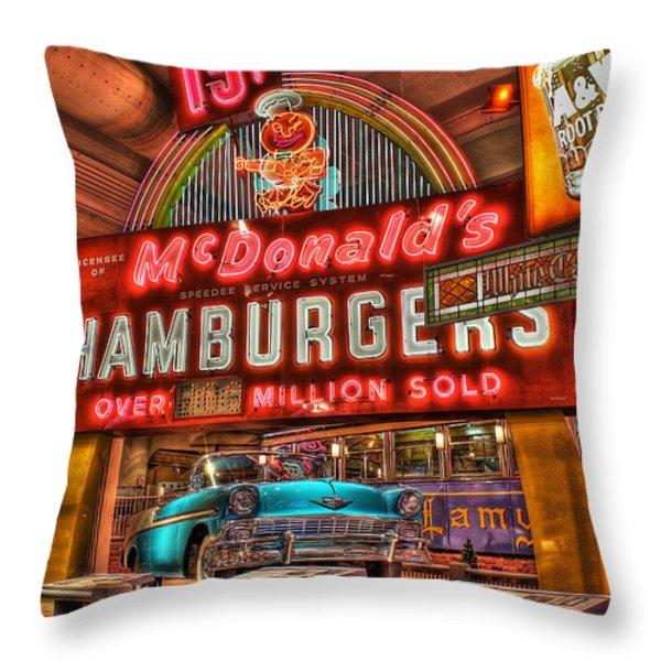 Driving America Dearborn Mi Throw Pillow by Nicholas  Grunas