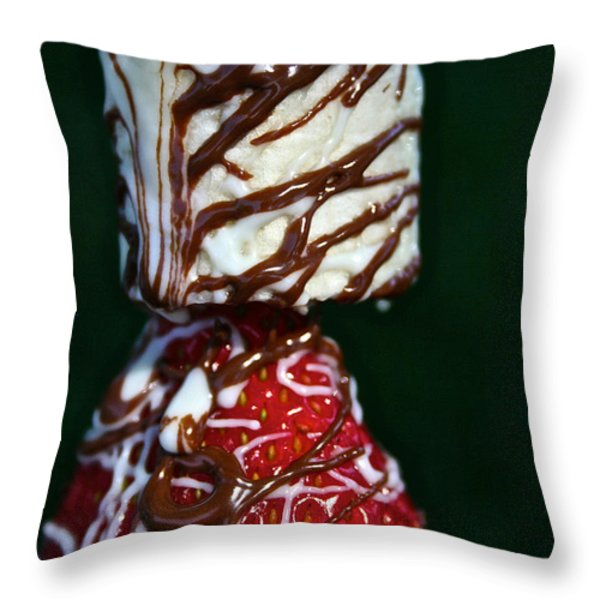 Drizzle Dripping Throw Pillow by Susan Herber