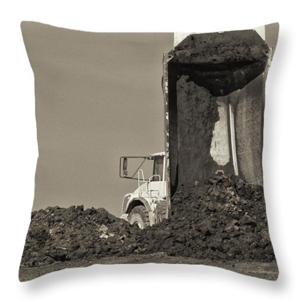 Drop Off Throw Pillow by Patrick M Lynch