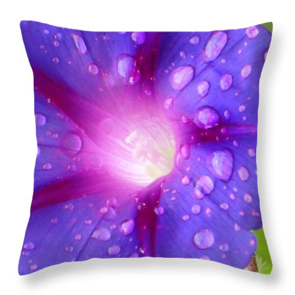 Droplets Glory Throw Pillow by Sonali Gangane