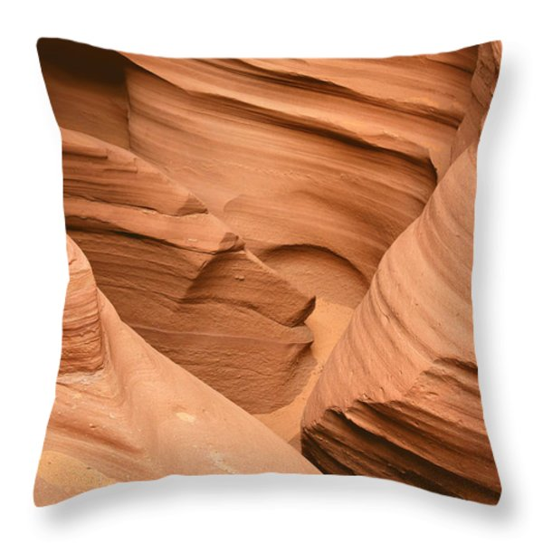 Drowning in the sand - Antelope Canyon AZ Throw Pillow by Christine Till