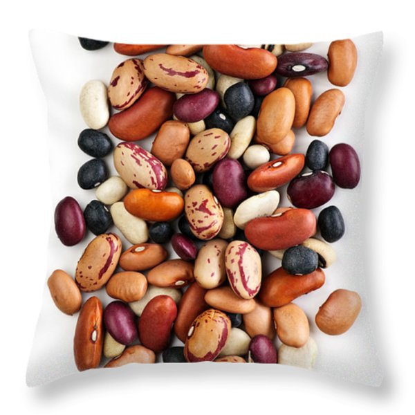 Dry beans Throw Pillow by Elena Elisseeva