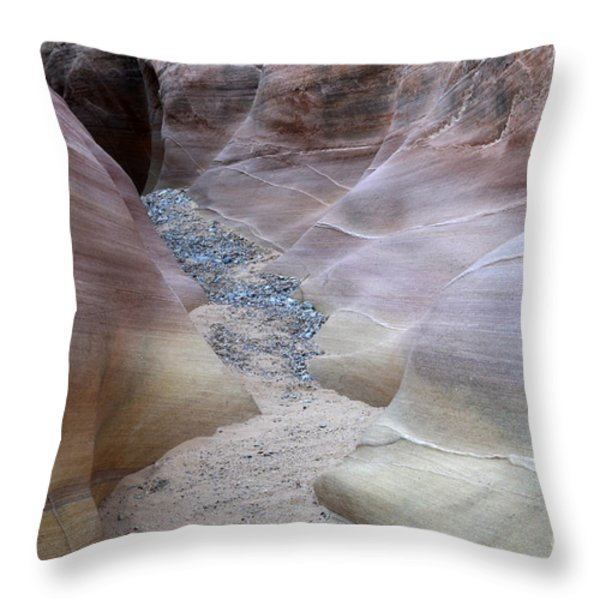 Dry Creek Bed 3 Throw Pillow by Bob Christopher