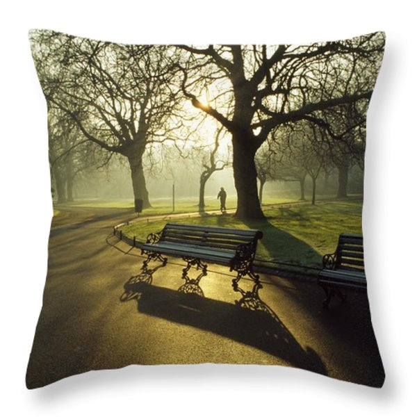 Dublin - Parks, St. Stephens Green Throw Pillow by The Irish Image Collection