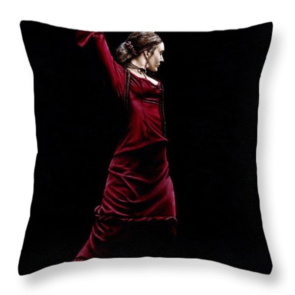Duende Throw Pillow by Richard Young