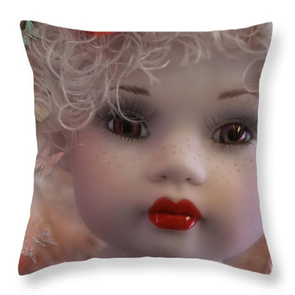Dulce My Sweety Throw Pillow by Rosa Cobos