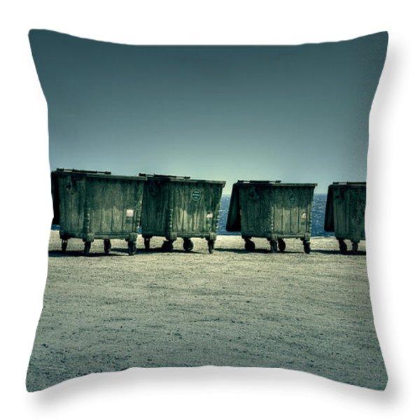 Dumpster Throw Pillow by Joana Kruse