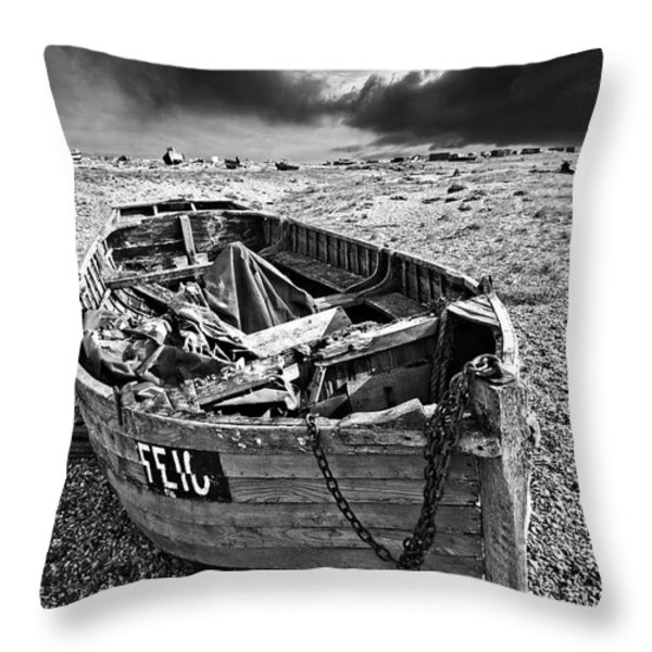 Dungeness Decay Throw Pillow by Meirion Matthias