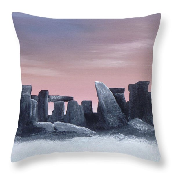 Dusk On The Winter Solstice At Stonehenge 1877 Throw Pillow by Alys Caviness-Gober