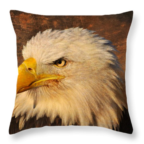 Eagle 47 Throw Pillow by Marty Koch