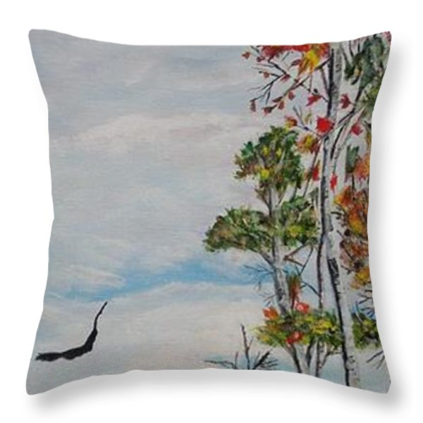 Eagles Point Throw Pillow by Marilyn  McNish