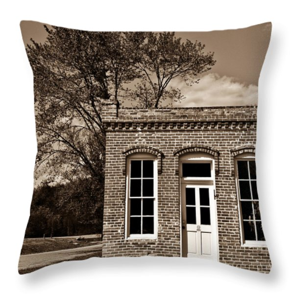 Early Office Building Throw Pillow by Douglas Barnett
