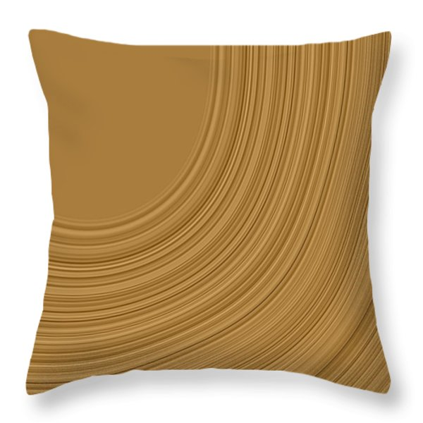 Earthy Swirls Throw Pillow by Bonnie Bruno
