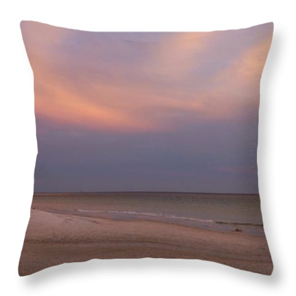 East - After the Sunset Throw Pillow by Sandy Keeton
