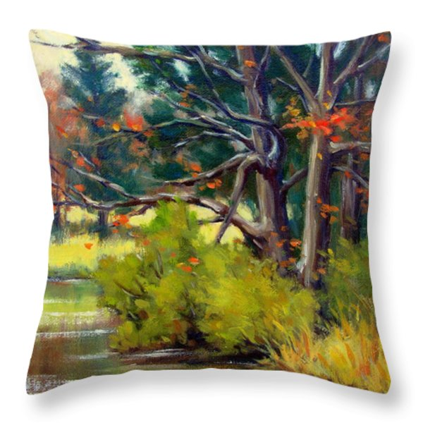 East Texas Autumn Throw Pillow by Vickie Fears
