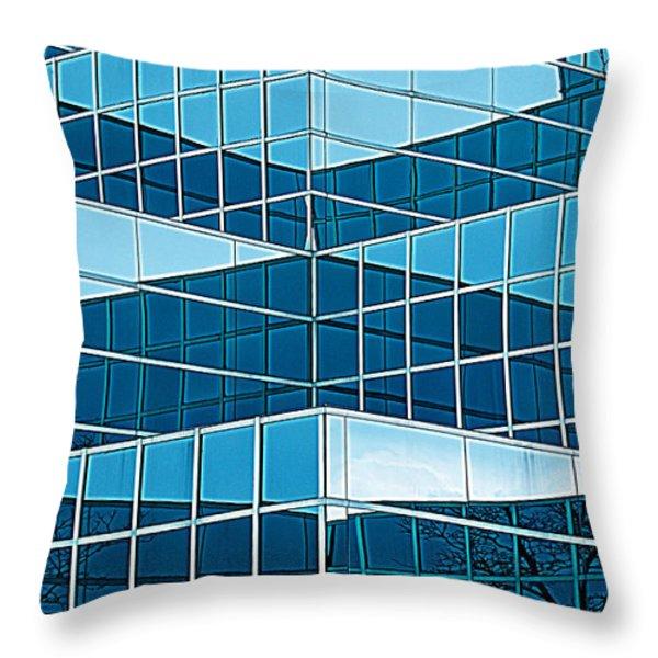 Eastern Michigan University 1142 Throw Pillow by Michael Peychich