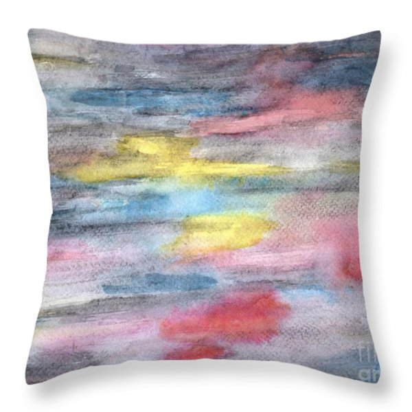 Ebony Rainbow Throw Pillow by Mary Zimmerman