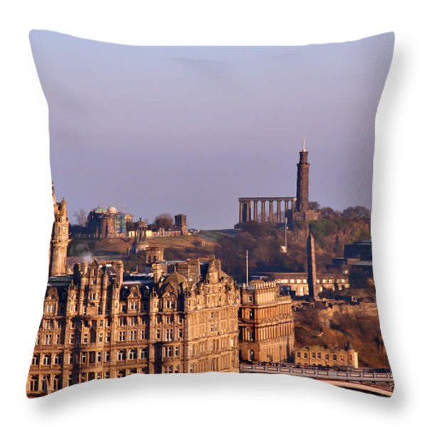 Edinburgh Scotland - A Top-class European City Throw Pillow by Christine Till