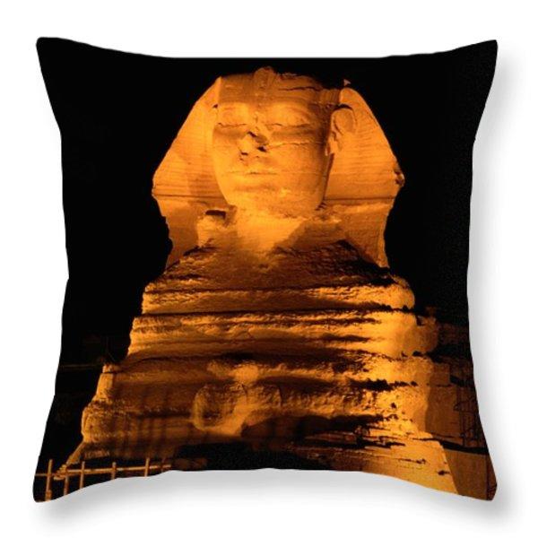 Egypt---giza Pyramids.  The Sphinx Throw Pillow by Richard Nowitz