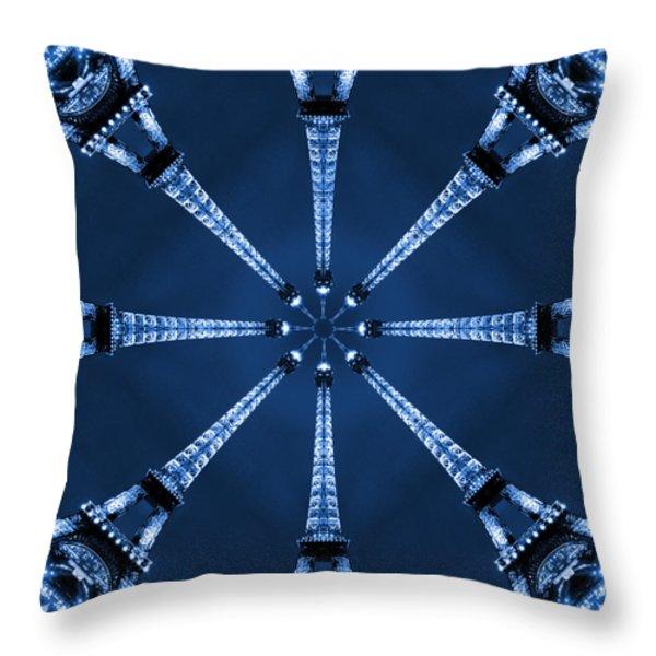 Eiffel Art 17 Throw Pillow by Mike McGlothlen