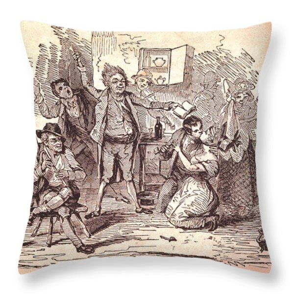Eldons Hotel, Roundstone,connemara, Co Throw Pillow by The Irish Image Collection