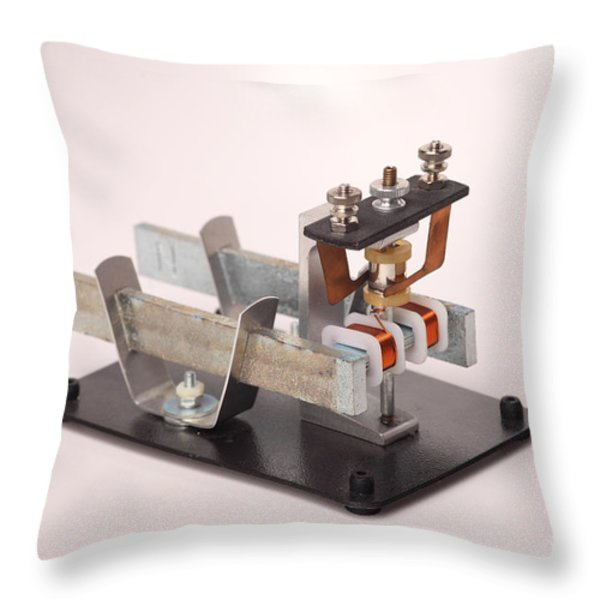 Electric Motor Throw Pillow by Ted Kinsman