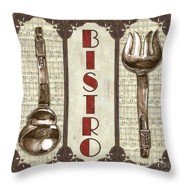 Elegant Bistro 1 Throw Pillow by Debbie DeWitt