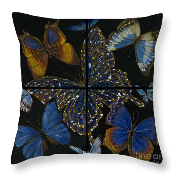 Elena Yakubovich Butterfly 2x2 Throw Pillow by Elena Yakubovich