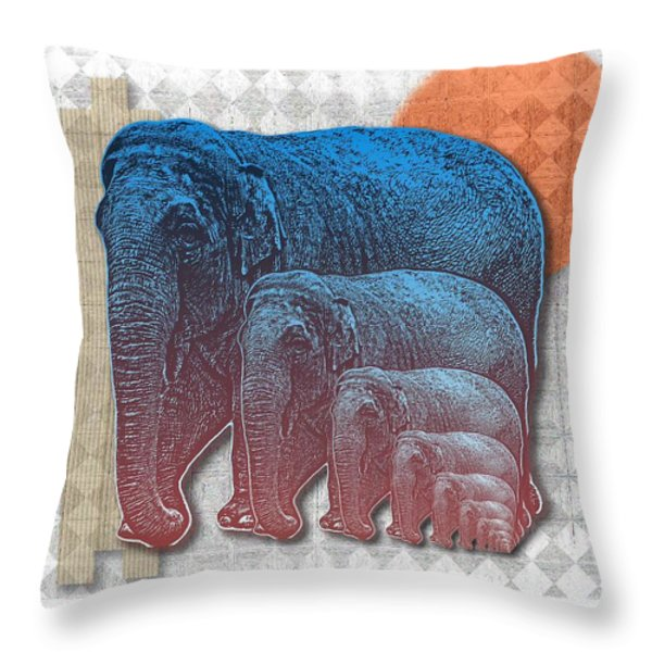Elifents Throw Pillow by Mimulux patricia no