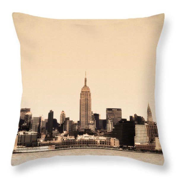 Empire State Building Throw Pillow by Bill Cannon