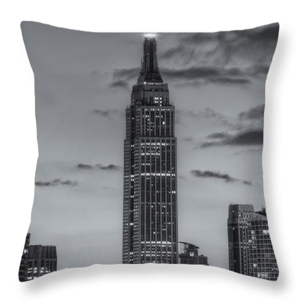 Empire State Building Morning Twilight IV Throw Pillow by Clarence Holmes