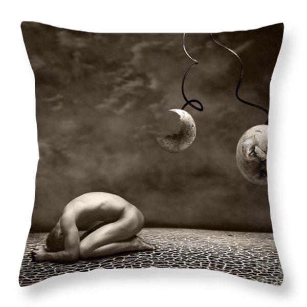 Emptiness Throw Pillow by Photodream Art