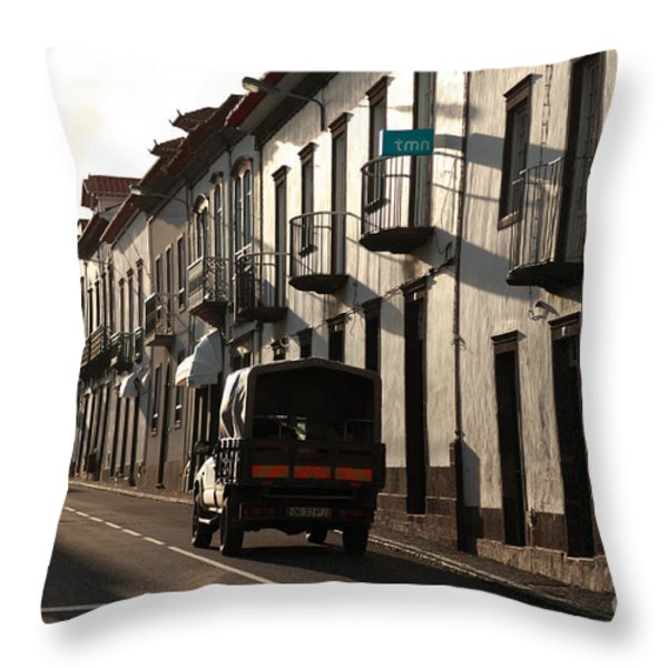 Empty Street Throw Pillow by Gaspar Avila