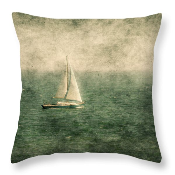 Empty Yacht Throw Pillow by Svetlana Sewell