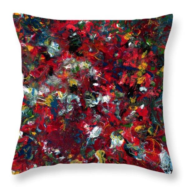 Enamel 1 Throw Pillow by James W Johnson