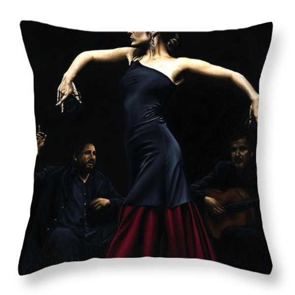 Encantado Por Flamenco Throw Pillow by Richard Young