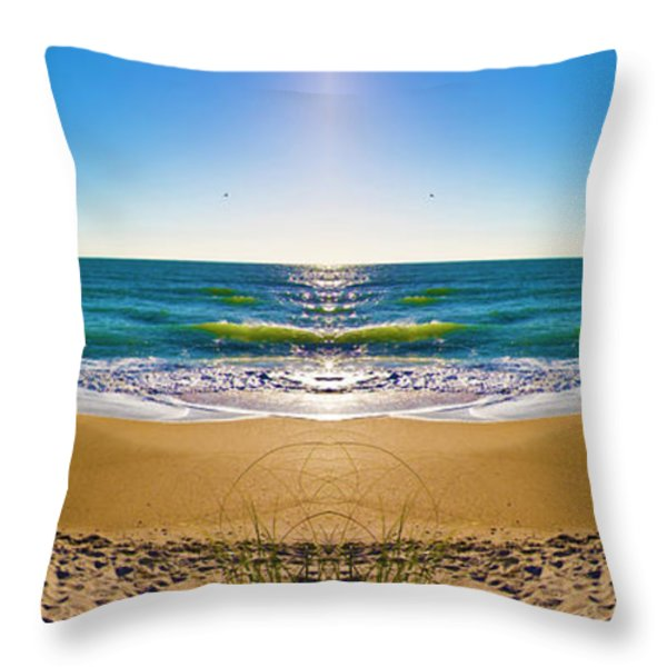 Enchanted Mirror Throw Pillow by Betsy A  Cutler