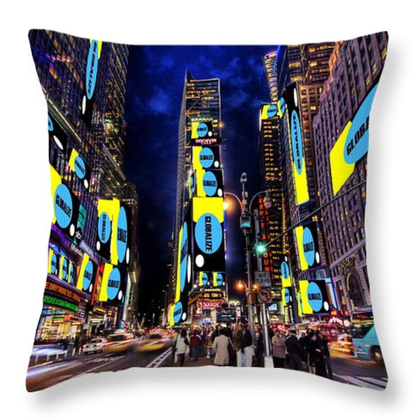 End of a Nation Throw Pillow by Dan Stone
