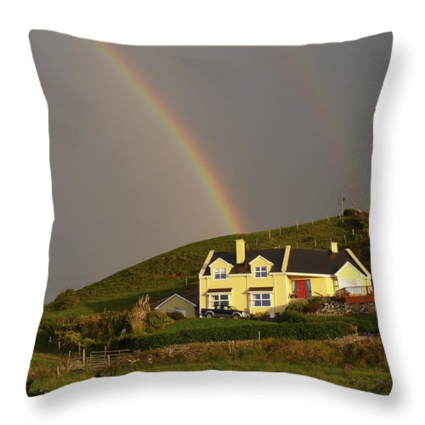End of the Rainbow Throw Pillow by Mike McGlothlen